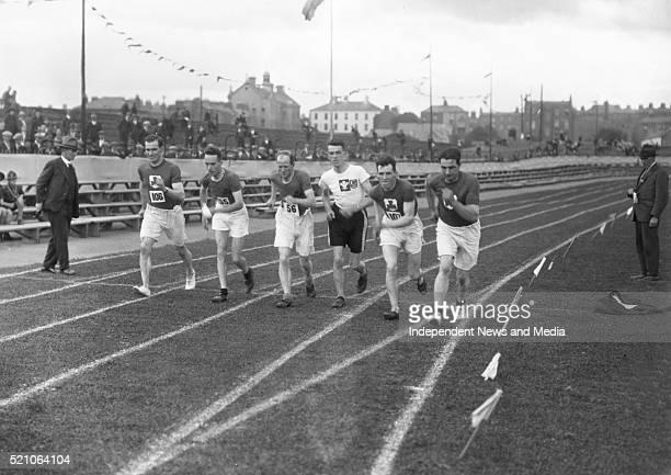 Aonach Tailteann Athletics - Croke Park. Start of race. 1928. .