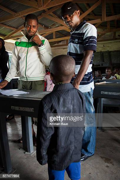 Aonga 5 years old is greeted by EVA staff Aonga is one of 120 children to be tested for HIV Aonga's test came out negative EVA provide HCT in three...