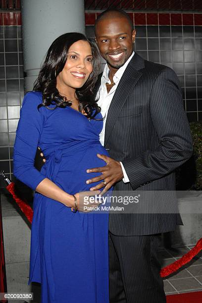 Aonika Laurent and Sean Patrick Thomas attend West Coast Screening of 'A Raisin in the Sun' at AMC Magic Johnson on February 11 2008 in Los Angeles CA