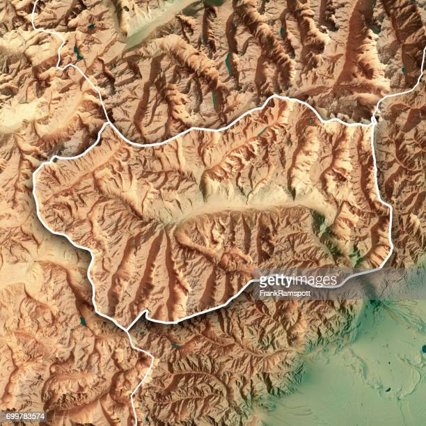 Aosta Valley State Italy 3D Render Topographic Map Border