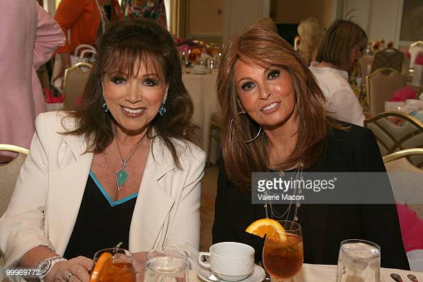 Aothor Jackie Collins and actress Raquel Welch attend the Carousel of Hope kickoff luncheon on May 18 2010 in Beverly Hills California