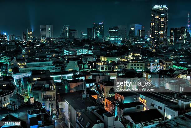 Aoyama at night, Tokyo
