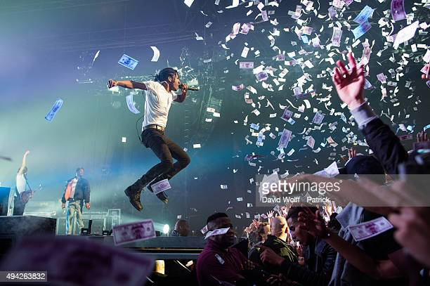 A$ap Rocky performs at Le Zenith on October 25 2015 in Paris France
