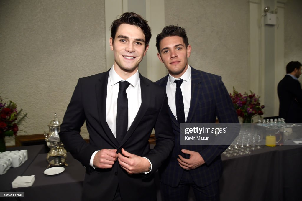 KJ Apa and Casey Cott attend The CW Network's 2018 upfront at New York City Center on May 17, 2018 in New York City.
