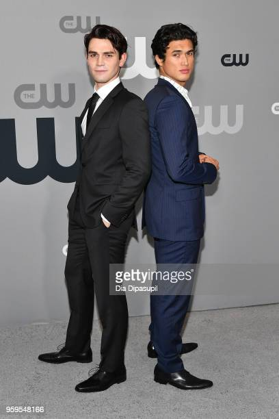 Apa and Charles Melton attend the 2018 CW Network Upfront at The London Hotel on May 17 2018 in New York City