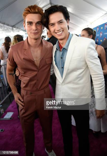Apa and Cole Sprouse attend FOX's Teen Choice Awards at The Forum on August 12 2018 in Inglewood California