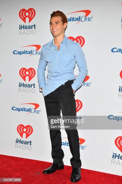 KJ Apa arrives at the iHeartRadio Music Festival at TMobile Arena on September 22 2018 in Las Vegas Nevada