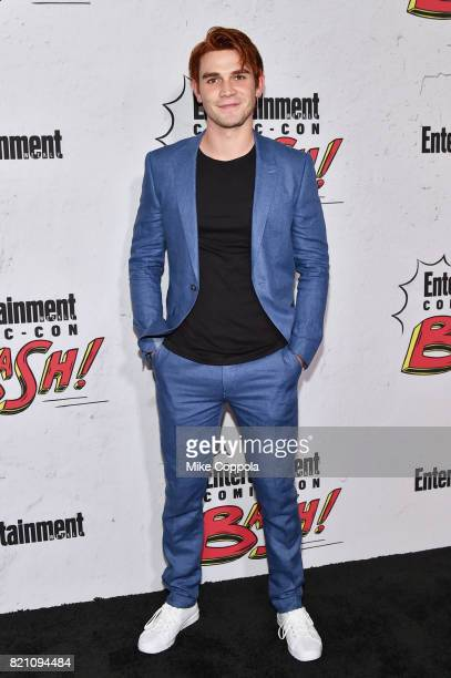 J Apa at Entertainment Weekly's annual ComicCon party in celebration of ComicCon 2017 at Float at Hard Rock Hotel San Diego on July 22 2017 in San...