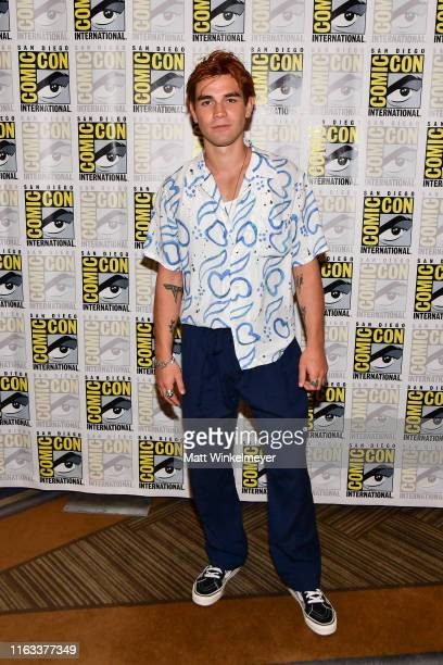 """Apa attends the Comic-Con International """"Riverdale"""" photo call at Hilton Bayfront on July 21, 2019 in San Diego, California."""