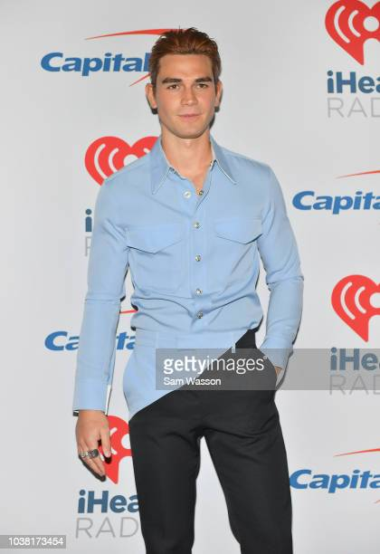 KJ Apa attends the iHeartRadio Music Festival at TMobile Arena on September 22 2018 in Las Vegas Nevada