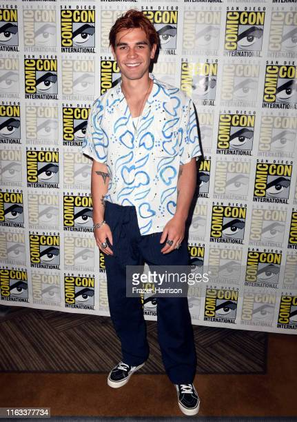 """Apa attends the """"Riverdale"""" Photo Call during 2019 Comic-Con International at Hilton Bayfront on July 21, 2019 in San Diego, California."""