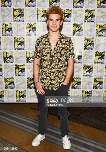 Apa attends the 'Riverdale' Press Line during ComicCon International 2018 at Hilton Bayfront on July 21 2018 in San Diego California