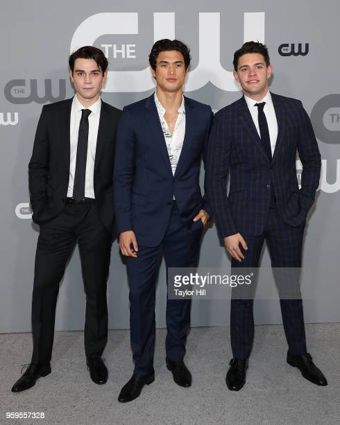 Apa Charles Melton and Casey Cott attend the 2018 CW Network Upfront at The London Hotel on May 17 2018 in New York City