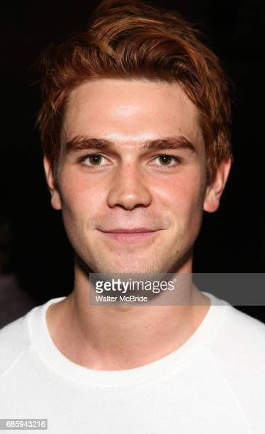 Apa from the cast of 'Riverdale' visits Broadway's 'Bandstand' at the Bernard Jacobs Theate on May 19 2017 in New York City