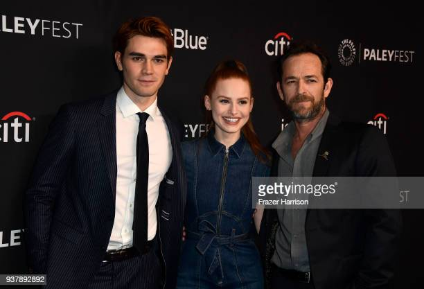 Apa Madelaine Petsch Luke Perry attends The Paley Center For Media's 35th Annual PaleyFest Los Angeles 'Riverdale' at Dolby Theatre on March 25 2018...