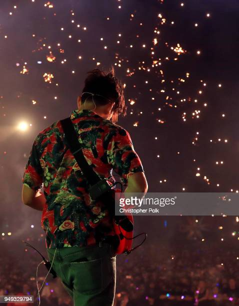 Apa performs with Kygo onstage during the 2018 Coachella Valley Music And Arts Festival at the Empire Polo Field on April 20 2018 in Indio California