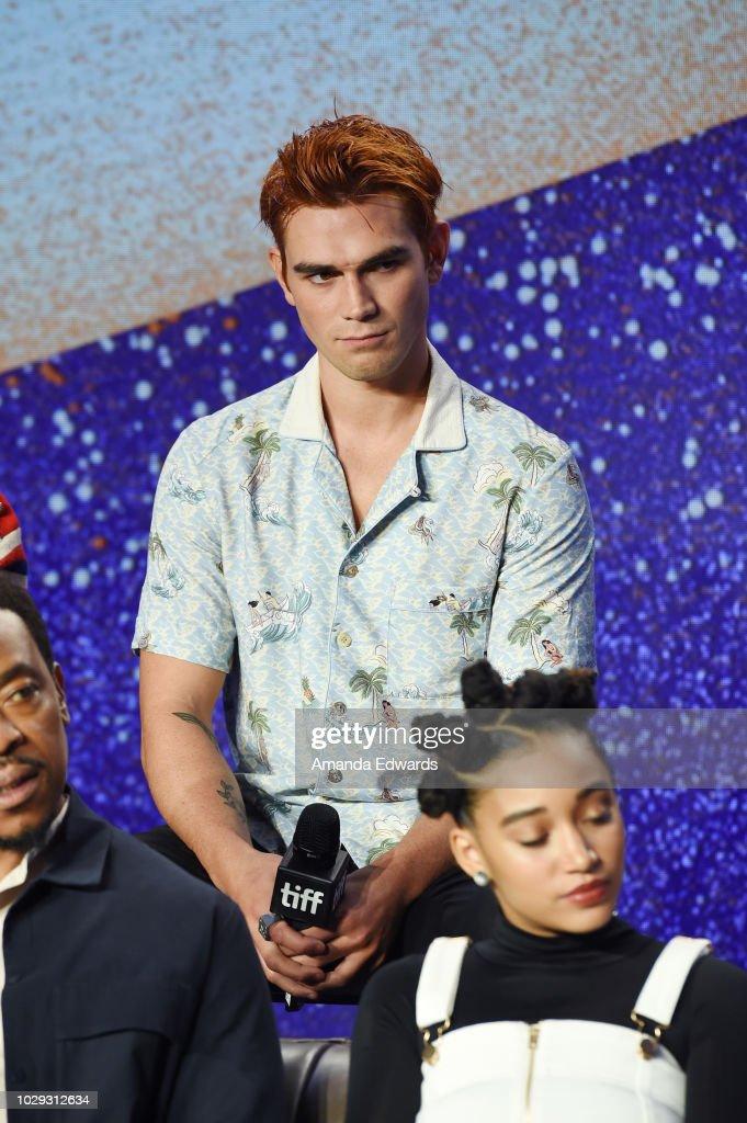 "2018 Toronto International Film Festival - ""The Hate U Give"" Press Conference : News Photo"