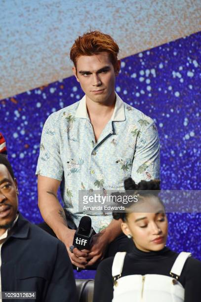 Apa speaks onstage at The Hate U Give Press Conference during 2018 Toronto International Film Festival at TIFF Bell Lightbox on September 8 2018 in...