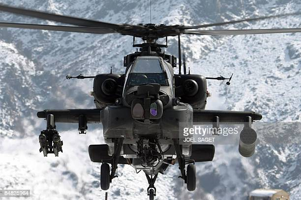 Apache helicopter overflies FOB MoralesFrazier in Nijrab on February 17 2009 The deterioration in security in Afghanistan has alarmed its Western...