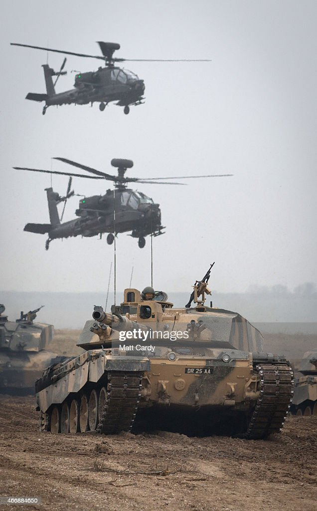 British Army Hold Exercise Tractable On Salisbury Plain : News Photo