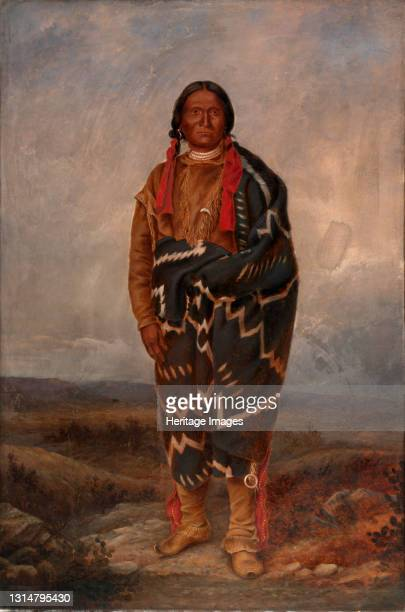 Apache Indian, ca. 1893. Artist Antonio Zeno Shindler.