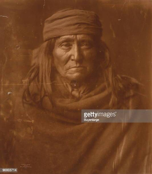 Apache Indian headandshoulders portrait facing front