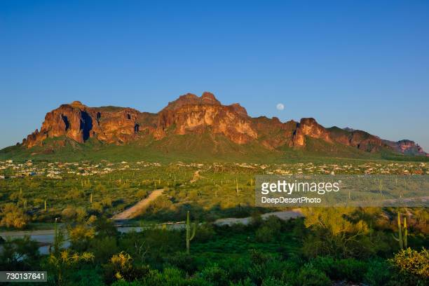 Apache Junction and Superstition mountains, Arizona, America, USA