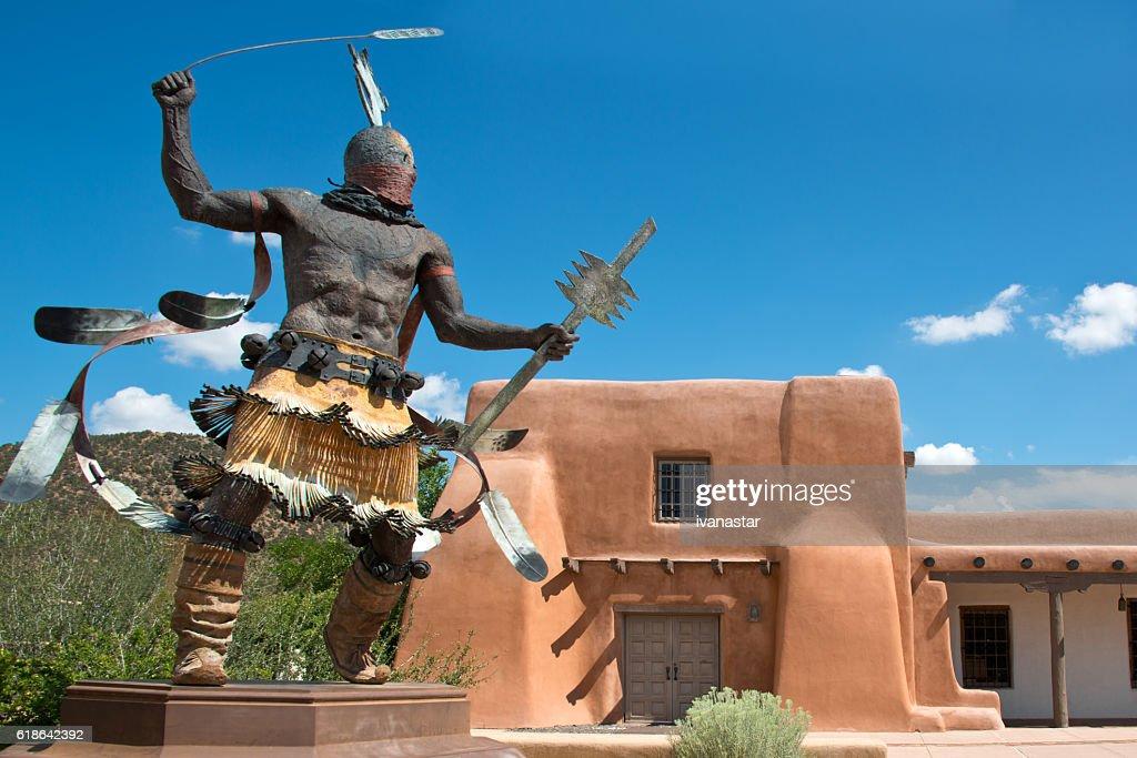 Apache Mountain Spirit Dancer in Santa Fe : Stock Photo