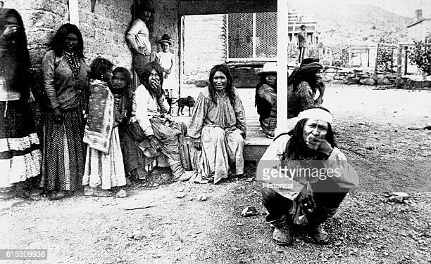Apache prisoners at Fort Bowie Arizona ca 1884 | Location Fort Bowie Arizona Territory