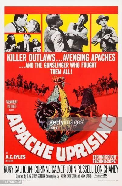 Rory Calhoun Corinne Calvet bottom John Russell on poster art 1966