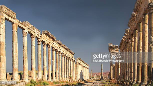 apamea, syria - byzantine stock pictures, royalty-free photos & images