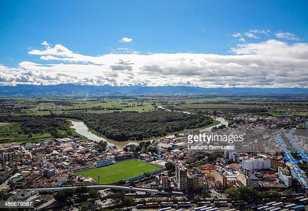 Aparecida town, aerial view