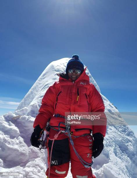 IPS Aparna kumar poses after successful summit of mount Manasalu of nepalese himalayas She is the first ever woman from India to carry tricolor on...