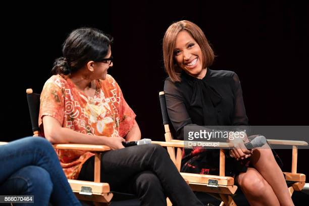 Aparna Nancherla and Robin Thede attend the 13th annual New York Television Festival Comedy For Change panel 'Comedy as Activism' at SVA Theatre on...