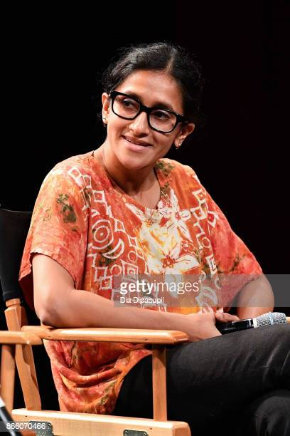 Aparna Nancherla attends the 13th annual New York Television Festival Comedy For Change panel 'Comedy as Activism' at SVA Theatre on October 24 2017...
