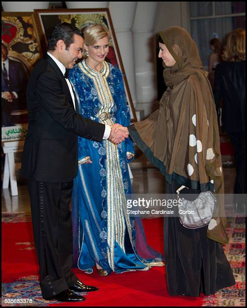 Aparna Sen meets HRH Moulay Rachid during the 11th Marrakech International Film Festival