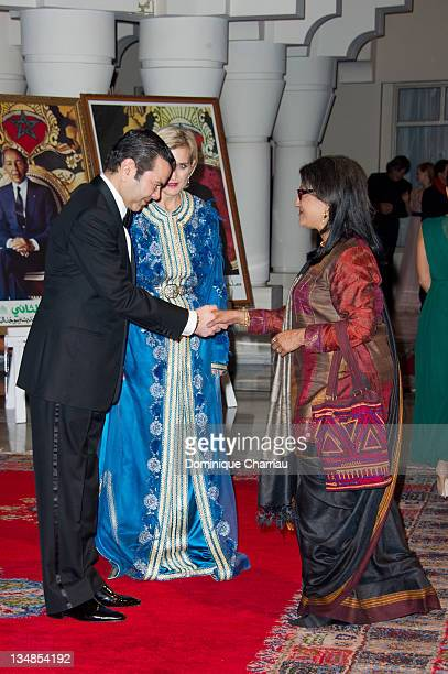 Aparna Sen meets Prince Moulay Rachid during Marrakech International Film Festival 2011 on December 3 2011 in Marrakech Morocco