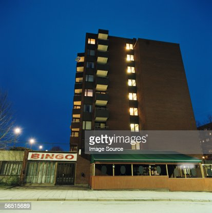 Apartment block and bingo hall