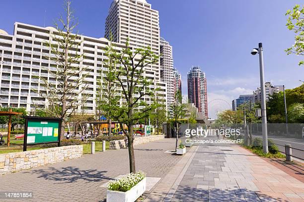 Apartment Block and Sidewalk