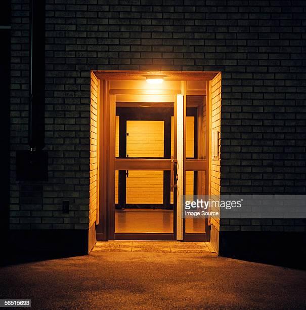 Apartment block doorway