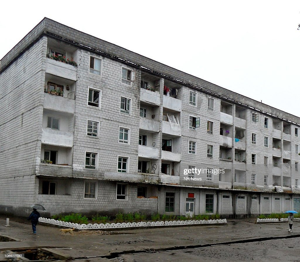 Apartment blocks are seen near Hamhung, North Korea's second largest city, on September 18, 2010 in Hamhung, North Korea.