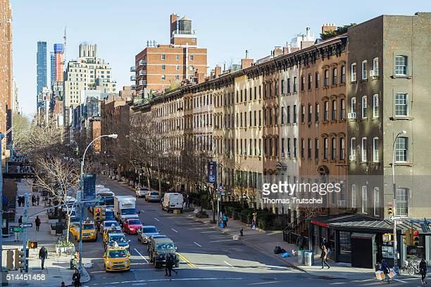 New York United States of America February 26 Apartment blocks in Manhattan on February 26 2016 in New York United States of America