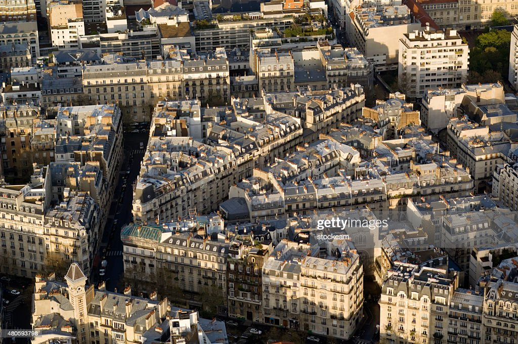 Apartment blocks, Paris France : Stock Photo