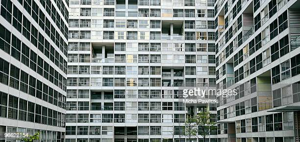 Apartment Building in Shinonome, Tokyo, Japan