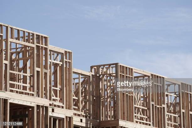 Apartment buildings are seen under construction in the Los Olivos real estate development in Irvine, California, U.S., on Wednesday, May 6, 2020....