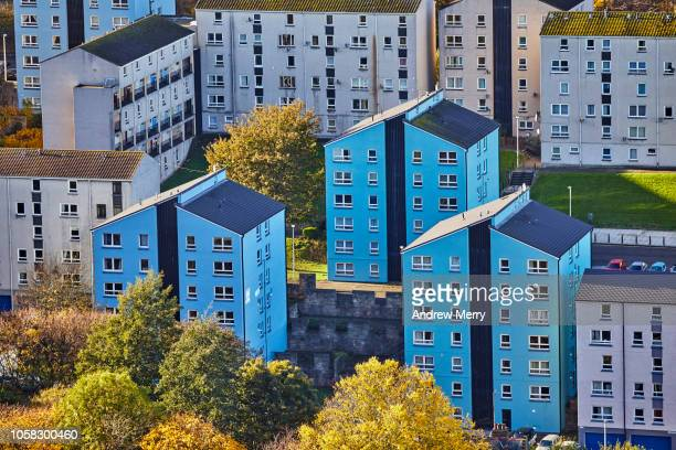 Apartment buildings, block of flats, tenements, Dumbiedykes flats, Edinburgh, Scotland