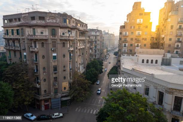 apartment buildings in downtown cairo, egypt - cairo stock pictures, royalty-free photos & images