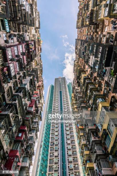 apartment buildings in Hong Kong, China