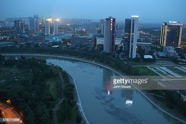 Apartment buildings rise into the skyline June 29 2015 in Chengdu China First inhabited more than 4 thousand years ago Chengdu now has more than 14...