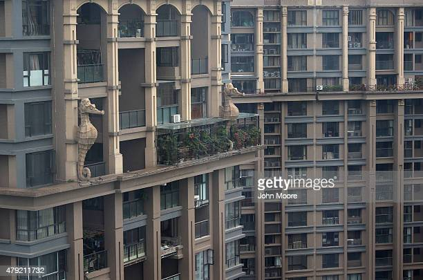 Apartment buildings rise into the skyline June 30 2015 in Chengdu China First inhabited more than 4 thousand years ago Chengdu now has more than 14...